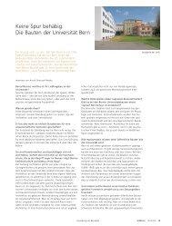 Keine Spur behäbig - Abteilung Kommunikation - Universität Bern