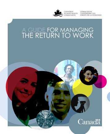 A Guide for Managing the Return to Work