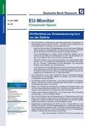 EU-Richtlinie zur Zinsbesteuerung - Deutsche Bank Research