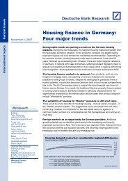 Housing finance in Germany: Four major trends - Deutsche Bank ...