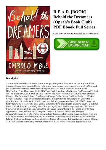 R.E.A.D. [BOOK] Behold the Dreamers (Oprah's Book Club) PDF Ebook Full Series
