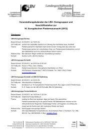 Veranstaltungskalender der LBV- Kreisgruppen und ...