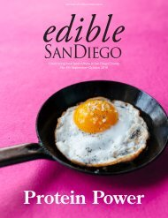 Edible San Diego Issue #49 September/October 2018