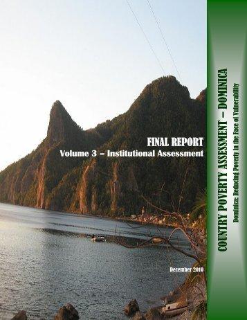 Volume 3 – Institutional Assessment - Caribbean Development Bank