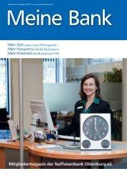 Meine Bank | Ausgabe II/2011 - Raiffeisenbank Oldenburg eG