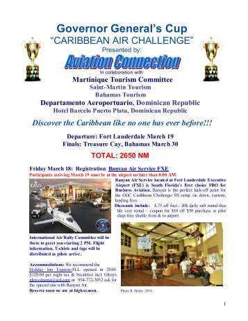 "Governor General's Cup ""CARIBBEAN AIR CHALLENGE"""
