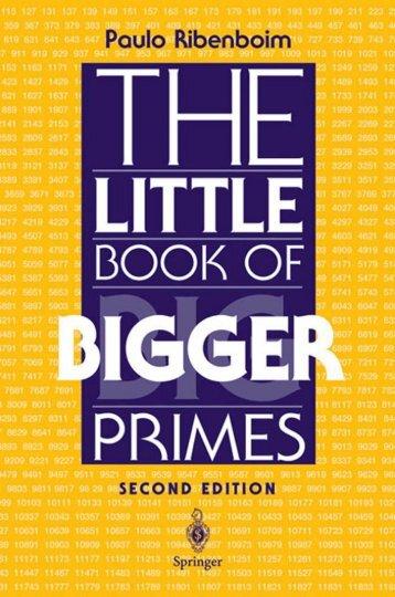 Paulo Ribenboim The Little Book of Bigger Primes - tiera.ru