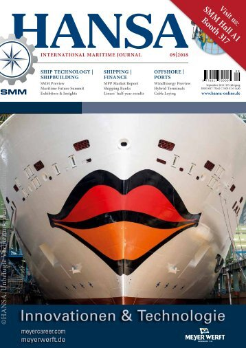 Hansa – International Maritime Journal, September 2018