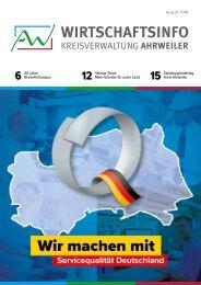 AW-Wirtschaftsinfo August 2018 - Wir machen mit - Service Qualität Deutschland