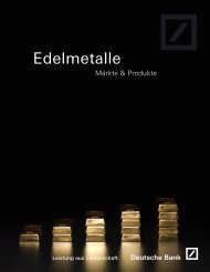 Edelmetalle - db ETC - Deutsche Bank