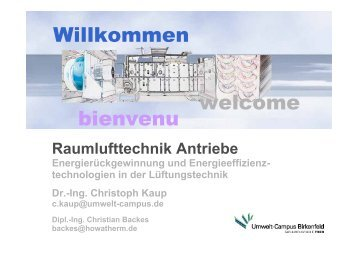 RLT Antriebe - HOWATHERM