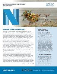 Fall Newsletter 2018
