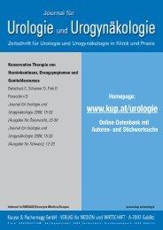 Konservative Therapie von Harninkontinenz, Drangsymptomen und ...