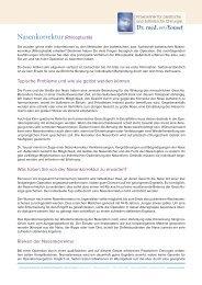 Nasenkorrektur - Praxisklikik für plastische und ästhetische Chirurgie