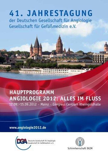 reFerentenVerZeichnis - Angiologie 2012