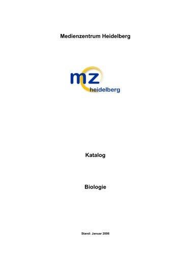 Medienzentrum Heidelberg Katalog Biologie