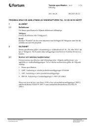 Tekniska krav vid anslutning av vindkraftverk till 10/ 20/ 30 ... - Fortum