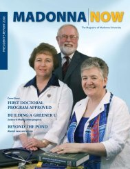 first doctoral program approved building - Madonna University