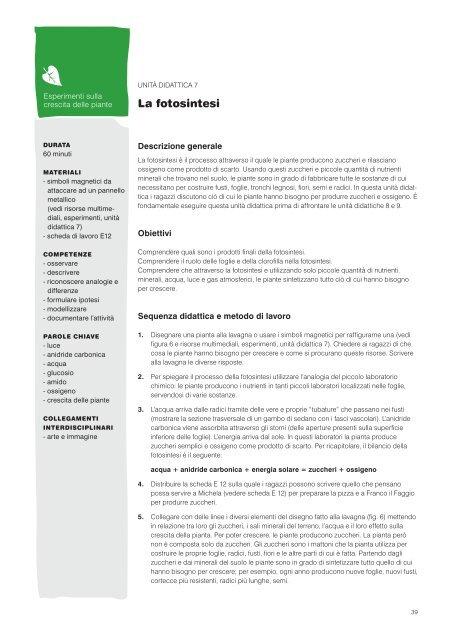 Unità Didattica Plantscafenet