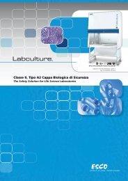 Classe II, Tipo A2 Cappa Biologica di Sicurezza - Esco Labculture