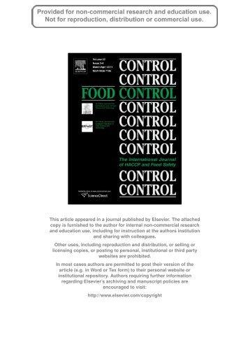 Author's personal copy - Rosa Rao Lab - Università degli Studi di ...