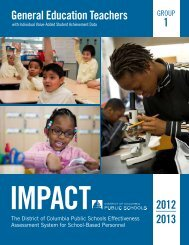 IMPACT - District of Columbia Public Schools