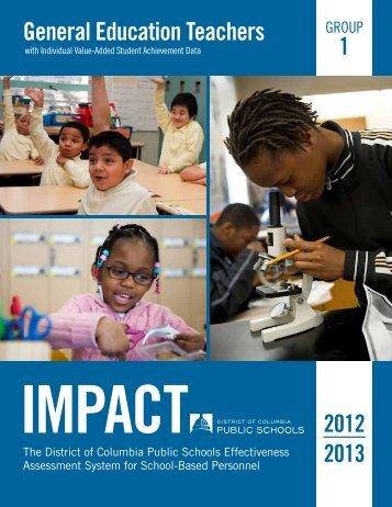 IMPACT - District of Columbia Public Schools