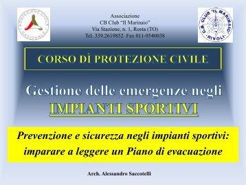 Prevenzione e sicurezza negli impianti sportivi - Associazione Primo ...