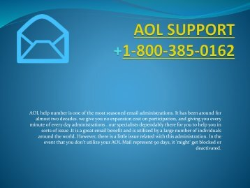 Aol Support Number- 1-800-385-0162 Tollfree Support Number