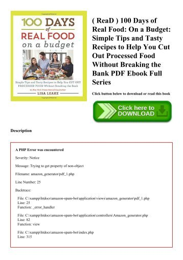 read 100 days of real food on a budget simple tips and tasty