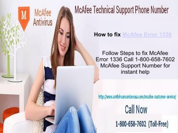 Steps to fix McAfee Error 1336 or Call 1-800-658-7602 for Help