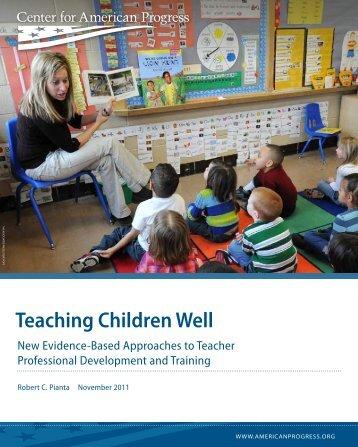 Teaching Children Well - Center for American Progress