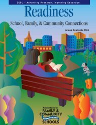 Readiness: School, Family, and Community Connections - SEDL