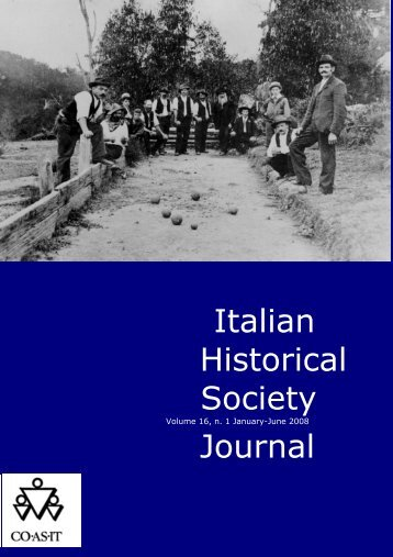 Italian Historical Society Journal - Co.As.IT