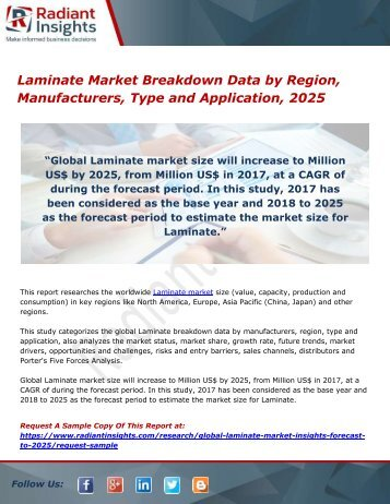 Laminate Market Breakdown Data by Region, Manufacturers, Type and Application, 2025