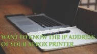 Want to know the IP address of your Xerox printer?