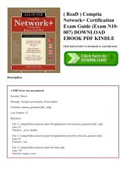 ( ReaD ) Comptia Network+ Certification Exam Guide (Exam N10-007) DOWNLOAD EBOOK PDF KINDLE