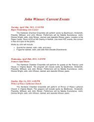 John Winsor: Current Events - John Winsor, Composer