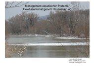 (Gewässerschutzgesetz, GSchG) 3. Kapitel - Eawag