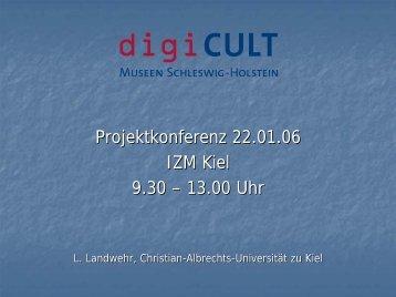 Vortrag Lütger Landwehr - digiCULT-Verbund
