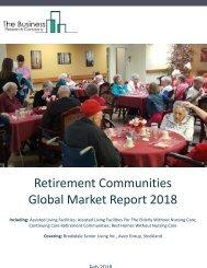 Retirement Communities Global Market Report 2018 Sample
