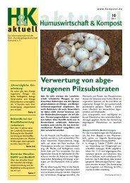 Verwertung von abge- tragenen Pilzsubstraten