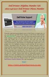 Dell Printer Helpline Number UK 0800-046-5077