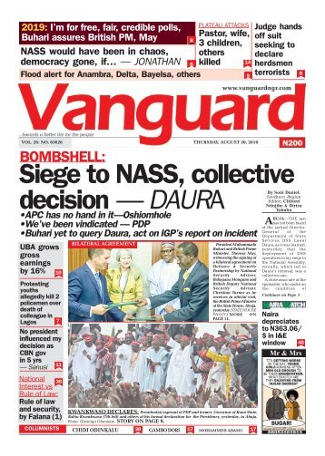 30082018 - BOMBSHELL:Siege to NASS, collective decision — DAURA