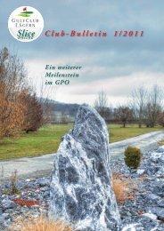 Slice Club-Bulletin 1/2011 - Golfclub Lägern