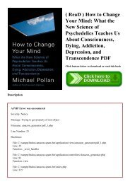 ( ReaD ) How to Change Your Mind What the New Science of Psychedelics Teaches Us About Consciousness  Dying  Addiction  Depression  and Transcendence PDF