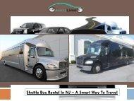 Shuttle Bus Rental In NJ - A Smart Way To Travel