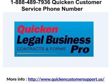1-888-489-7936 Quicken Customer Service Phone Number