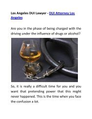Professional Los Angeles DUI Lawyer