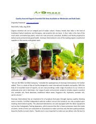 Quality Assured Organic Essential Oils Now Available on Wholesale and Bulk Deals